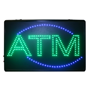 ATM SIGN, PROGRAMMABLE LED