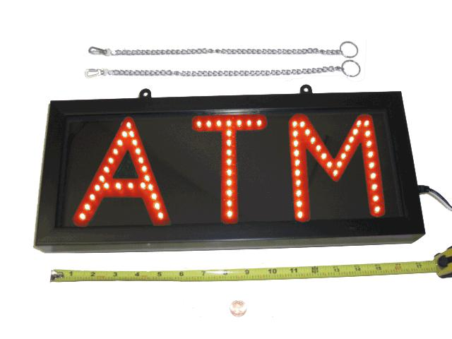 Red LED ATM Sign