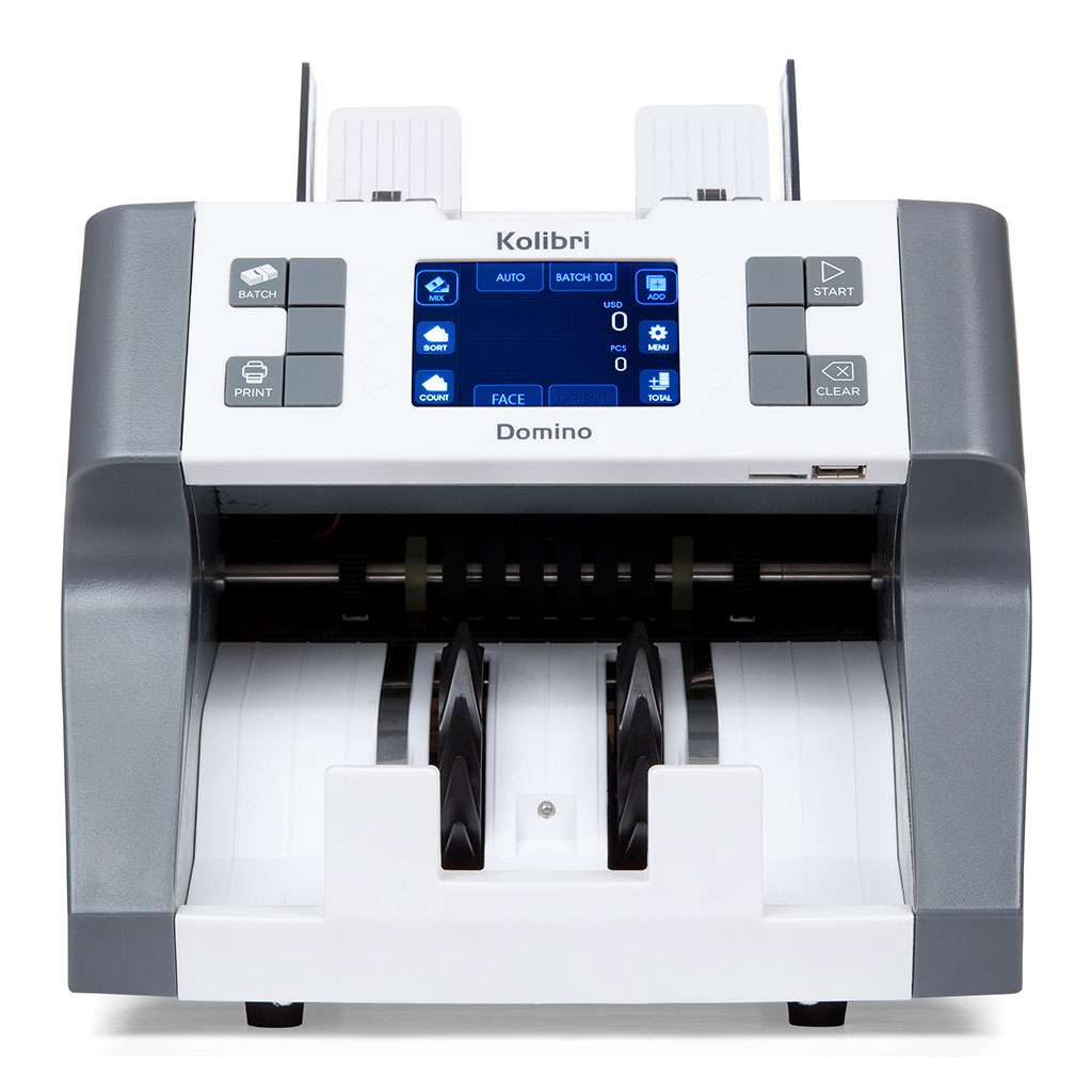 Kolibri Domino™ Business-Grade Bill Counter, Sorter and Reader with Counterfeit Detection