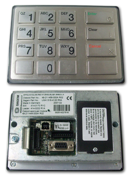 Sagem Keypad for Diebold Machines