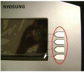 Hyosung LCD Function Keypad Overlay For 1800 & 1800 POS