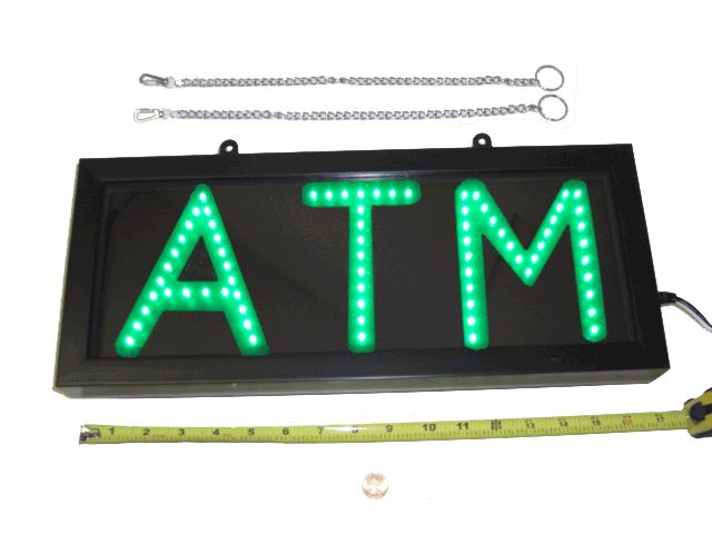 Green LED ATM Sign