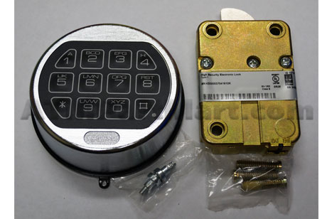 LaGard LGBasic II Swingbolt with Satin Chrome Keypad