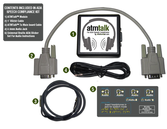 ATMTalk™ ATM Speech Upgrade for Hyosung / Tranax 1000, 1500, 2000, 2100 & 2100T With Gen/186 Board Only